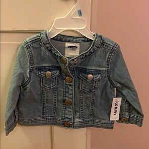 Baby Jean jacket old navy NWT